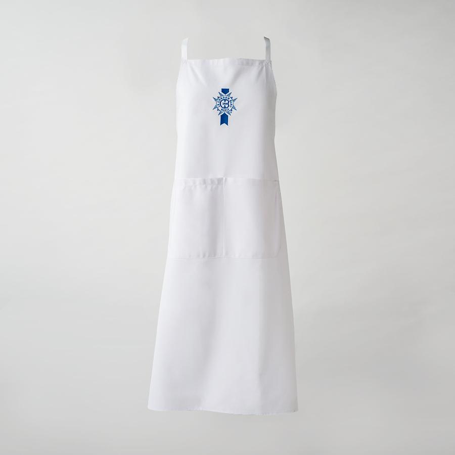 White apron and chef hat - Le Cordon Bleu Chef S Apron